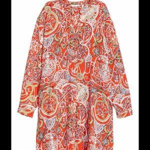 H&M Orange Paisley Tunic Dress